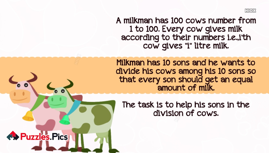 100 Cows And Milk Puzzle