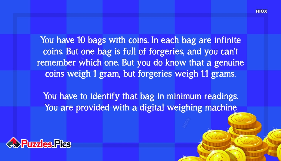 Bag Of Coins Job Interview Puzzle