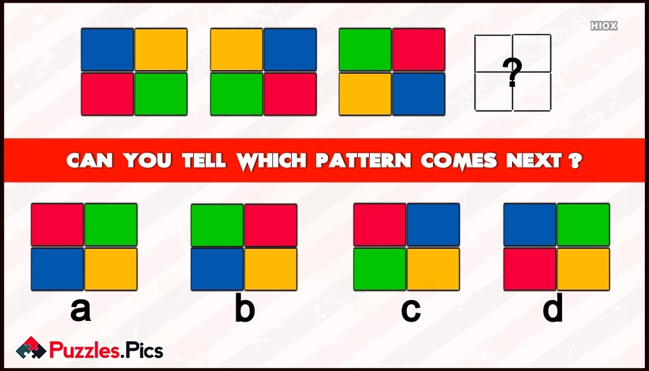 Can You Tell Which Pattern Will Come At Empty Squares?