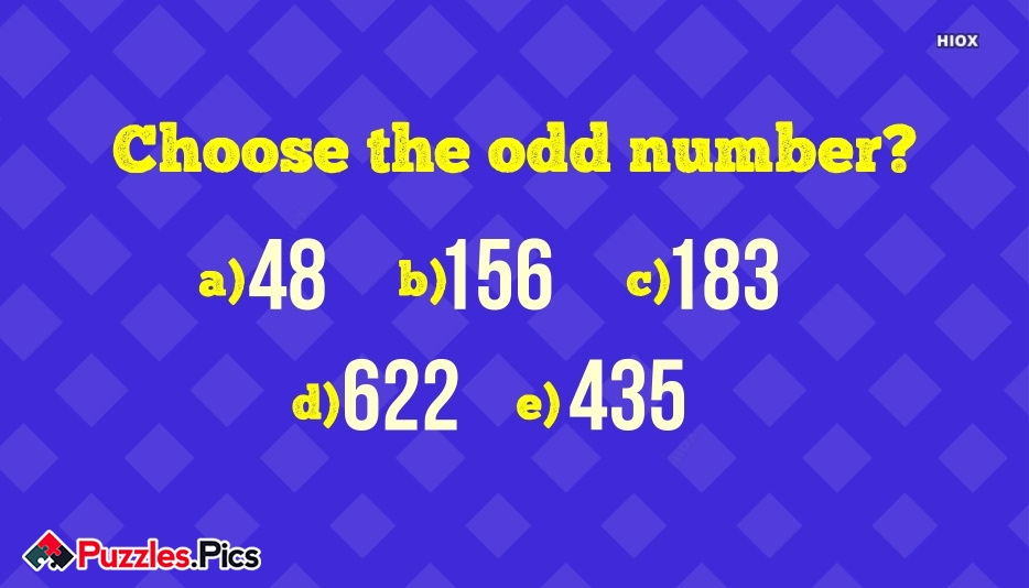 Choose The Odd Number?