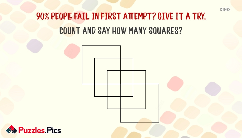 Count And Say How Many Squares?