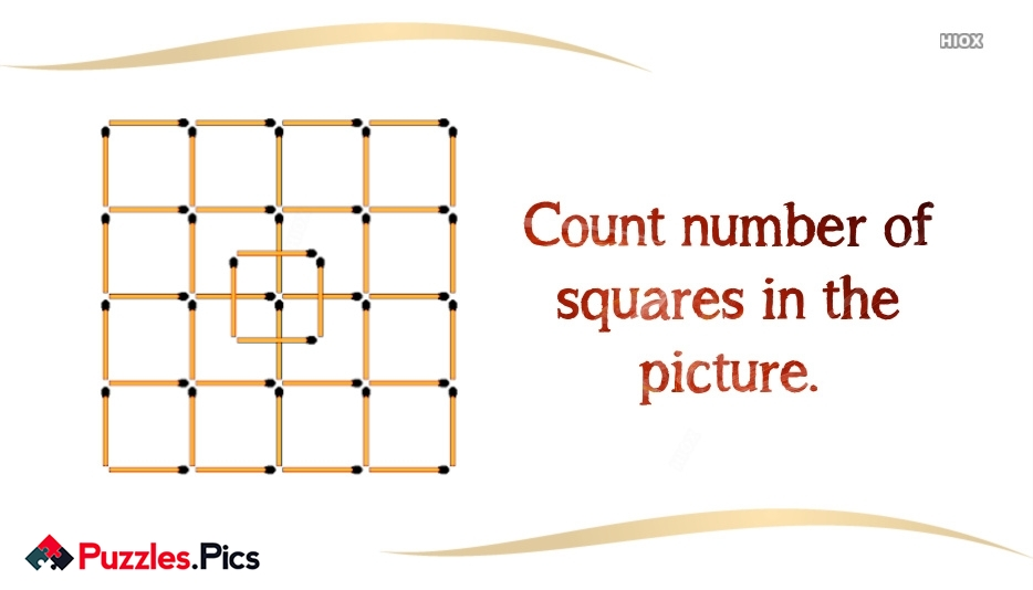 Count Number Of Squares In The Picture.