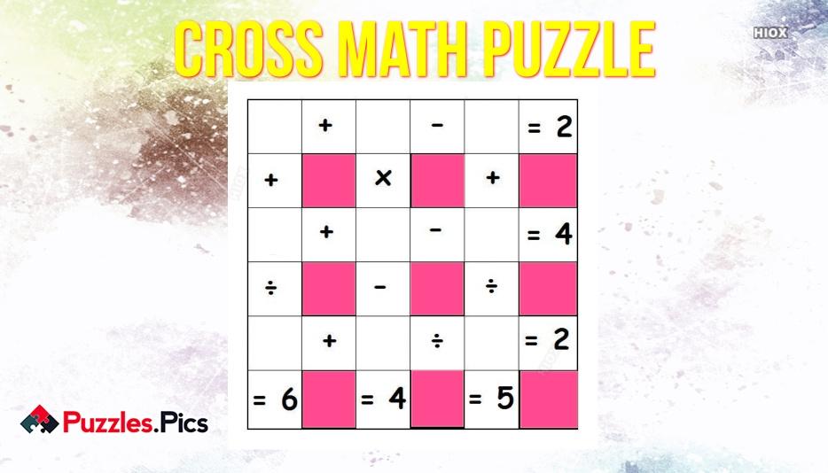 Cross Math Puzzle