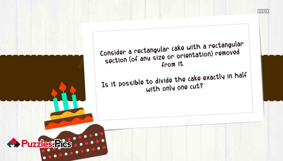 Divide The Rectangular Cake Puzzle