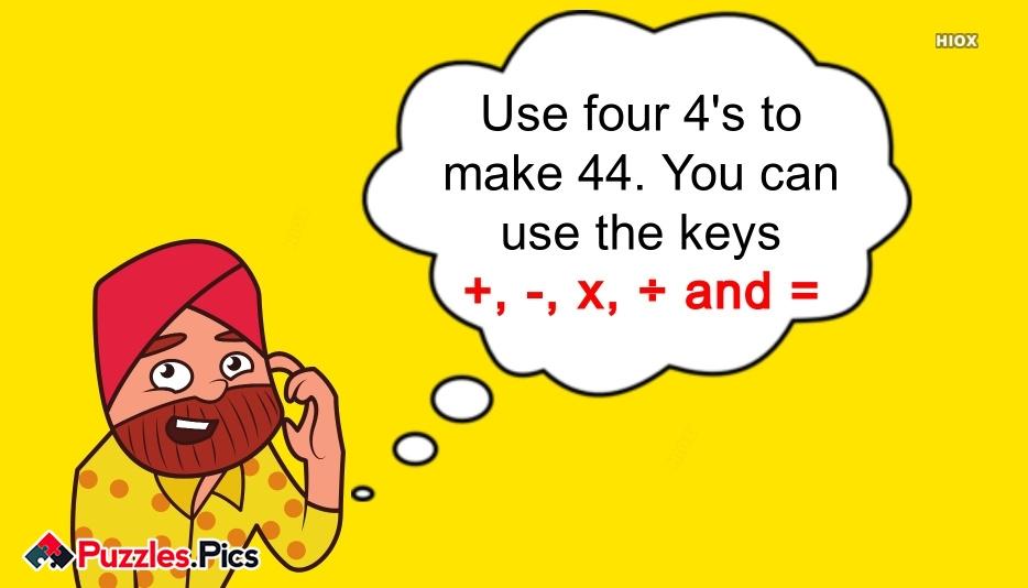 Dizzy Digits | Use Four 4