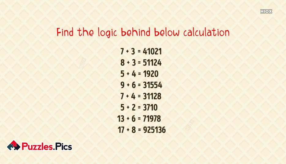 Find The Logic Behind Below Calculation