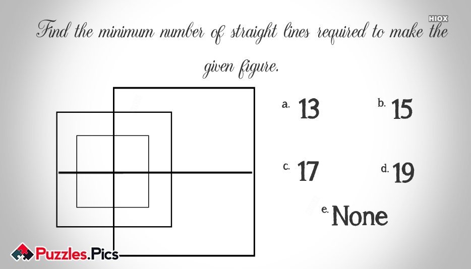 Find The Minimum Number Of Straight Lines Required To Make The Given Figure