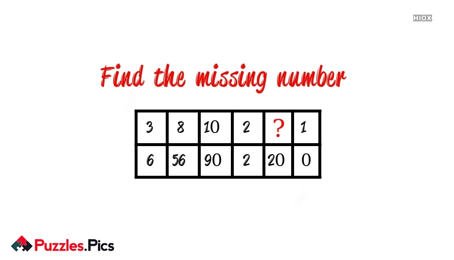 Find The Missing Number In Between The Series