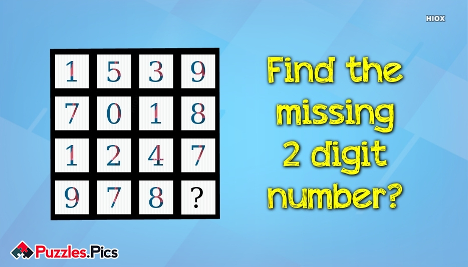 Missing Numbers Puzzles and Riddles With Answers