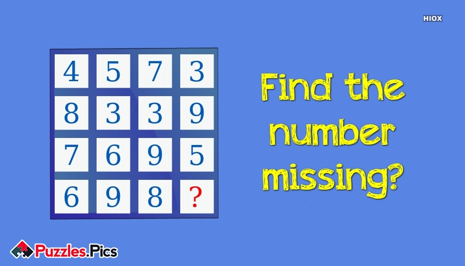 Find The Number Missing?