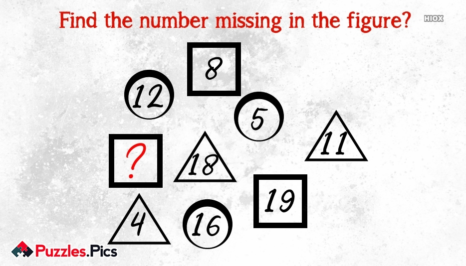 Find The Number Missing In The Figure?