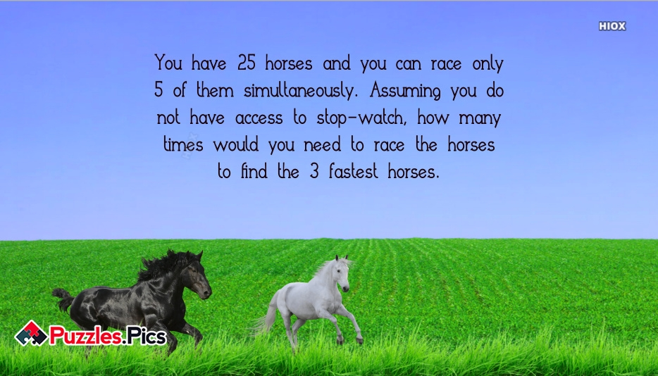 Finding The Fastest Horses - Interview Puzzles