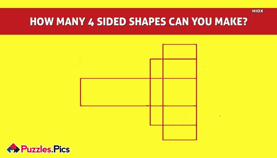 HOW MANY 4 SIDED SHAPES CAN YOU MAKE?