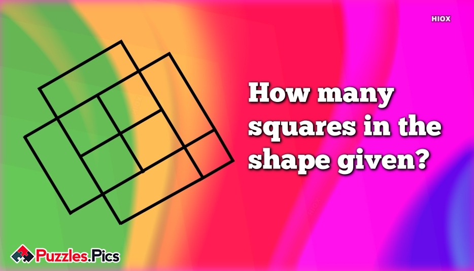 How Many Squares In The Shape Given?