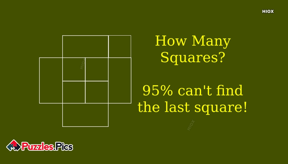 How Many Squares? 95% Cant Find The Last Square