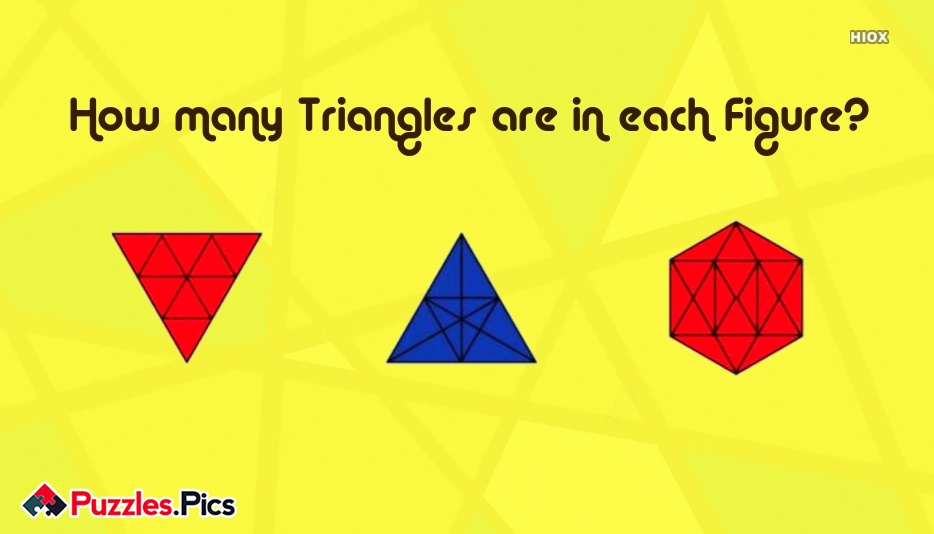 How Many Triangles Are In Each Figure?