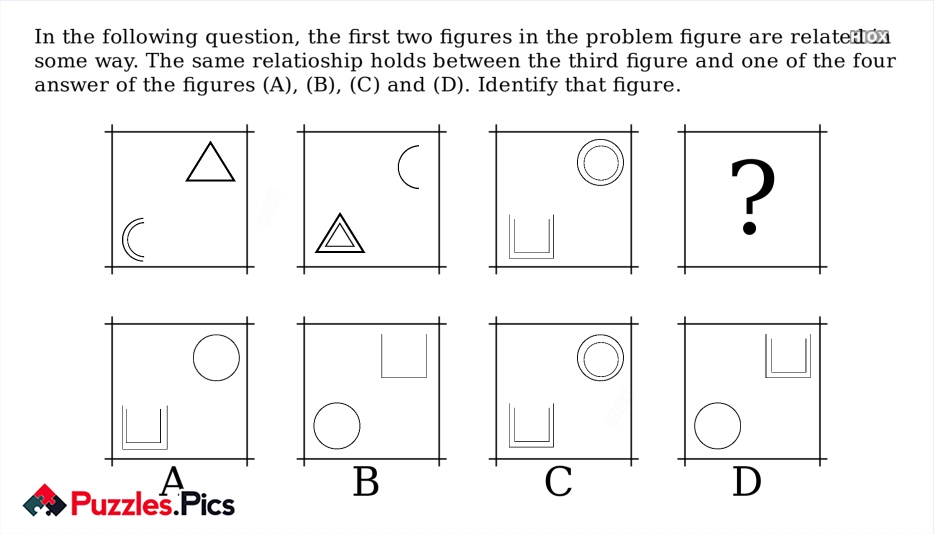 Pictorial Reasoning Puzzles With Anwers