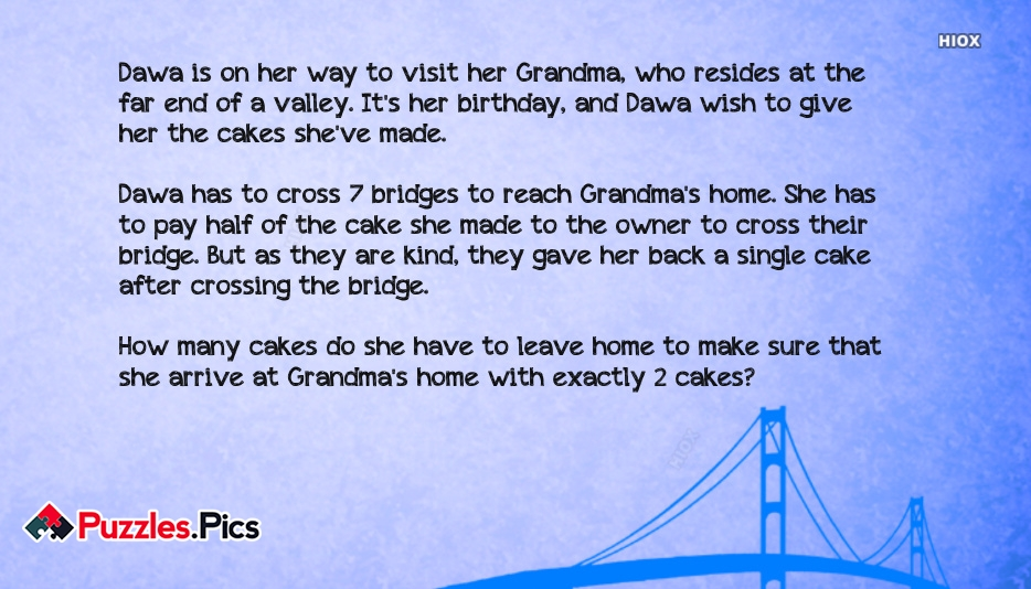 Infosys Logical Job Interview Puzzle Grandma and Cake Puzzle