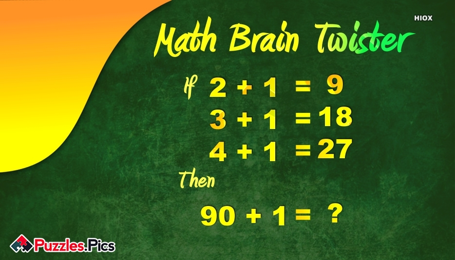 Brain Twister Puzzles and Riddles With Answers
