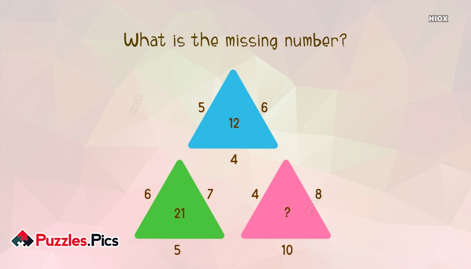 Number Puzzles: Find The Missing Number In The Third Triangle