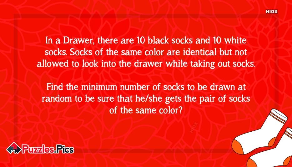 Pair Of Socks Puzzle