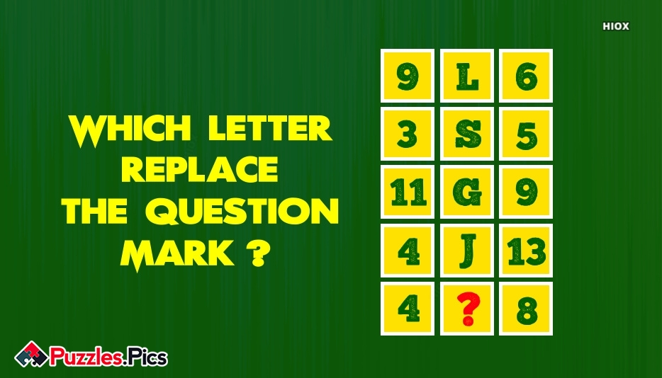Replace The Question Mark With Letter