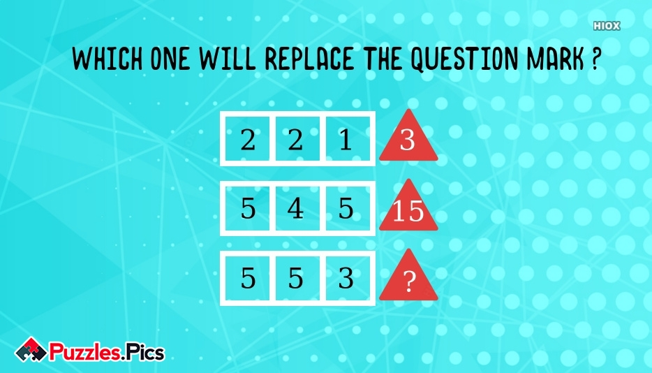 Which One Will Replace The Question Mark ?