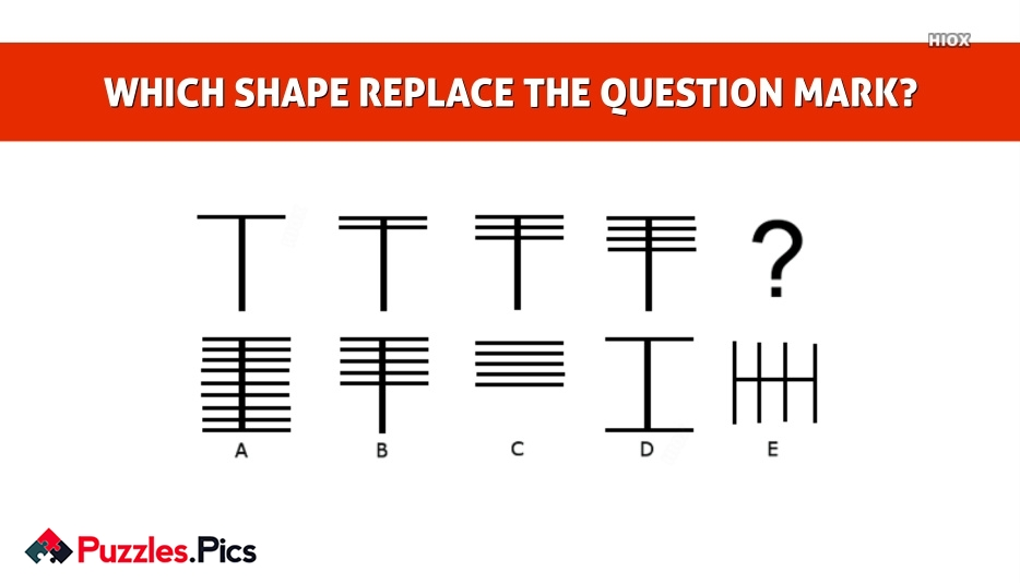WHICH SHAPE REPLACE THE QUESTION MARK?