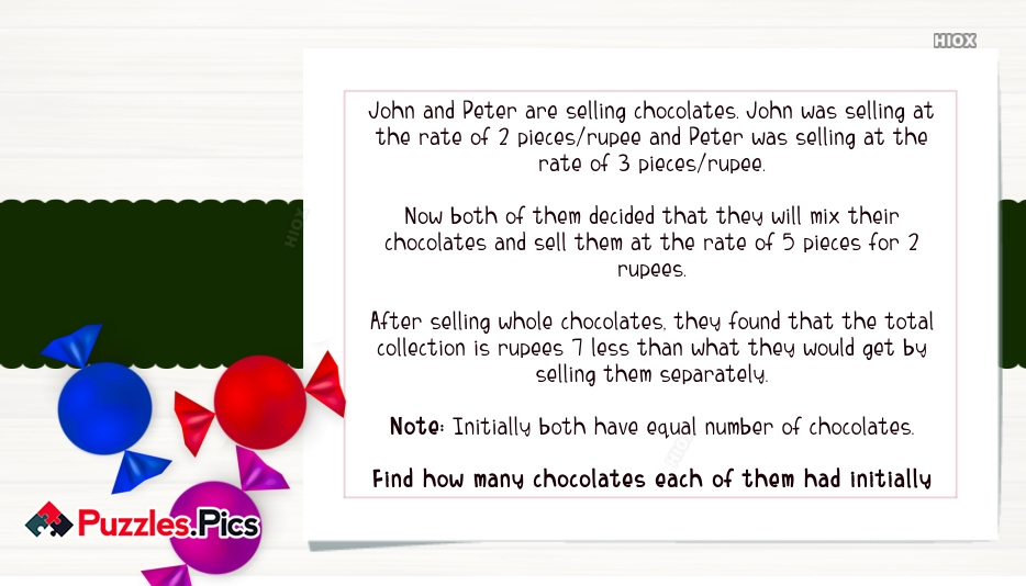 Selling Chocolates Puzzle