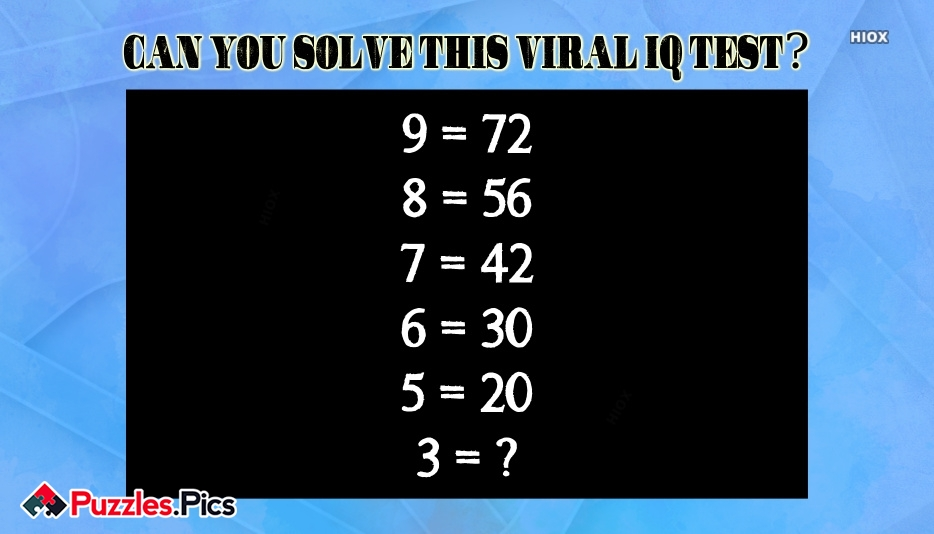 Can You Solve This Viral IQ Test?