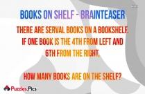 Books On Shelf - Brainteaser