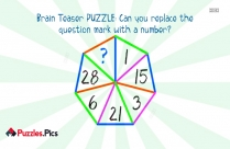 Brain Teaser PUZZLE: Can You Replace The Question Mark With A Number?