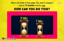 Can You Solve This Hourglass Puzzle