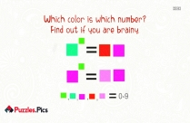 Color Puzzle Whatsapp - Which Color Is Which Number? Find Out If You Are Brainy.