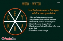 English Word Watch Puzzle