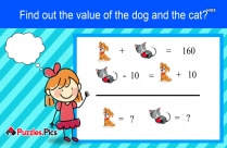 Find Out The Value Of Dog And Cat