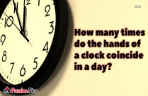 How Many Times Do The Hands Of A Clock Coincide In A Day?