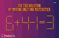 MatchSticks Number Series Riddle