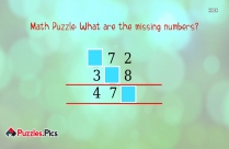 Math Puzzle: What Are The Missing Numbers?
