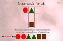 Shape Puzzle For Kids - Place The Shapes In Such A Way That Each Row