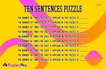Ten Sentences Puzzle