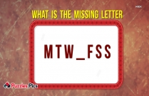 What Is The Missing Letter