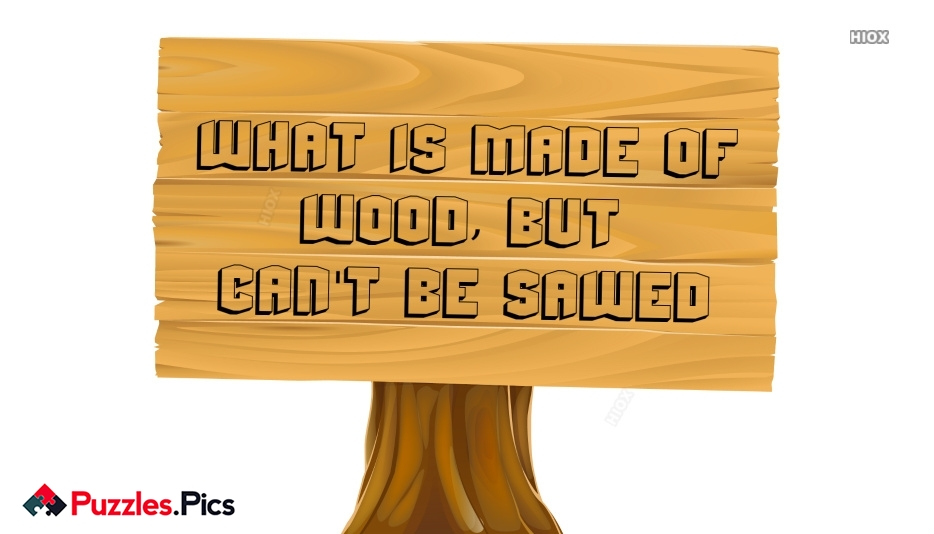What is Made Of Wood But Can