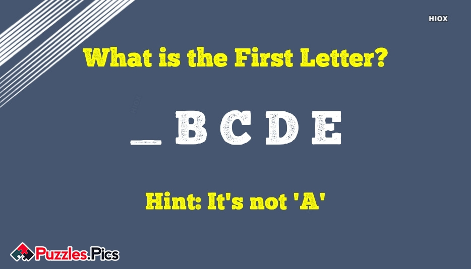 What is The First Letter?
