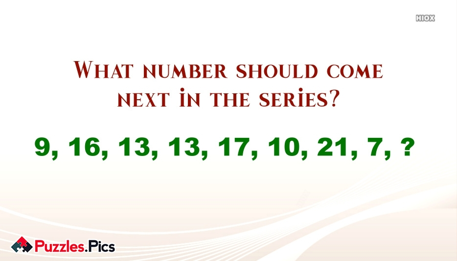What Number Should Come Next In The Series?