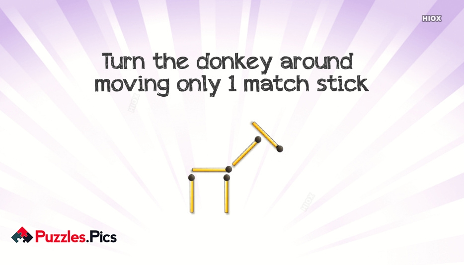 Whatsapp Matchstick Puzzle Move 1 Matchstick To Turn The Donkey