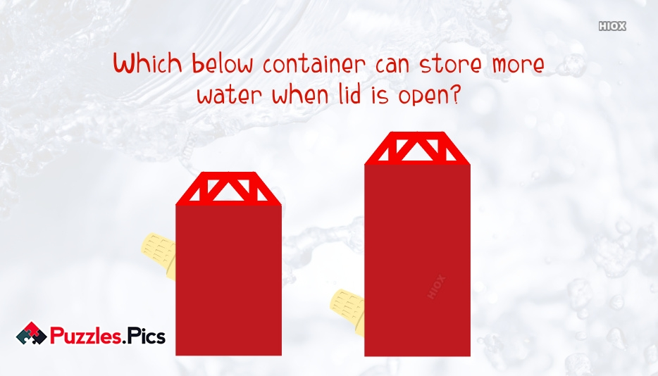 Which Below Container Can Store More Water When Lid is Open?