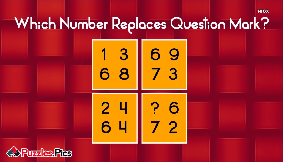 Which Number Replaces Question Mark?