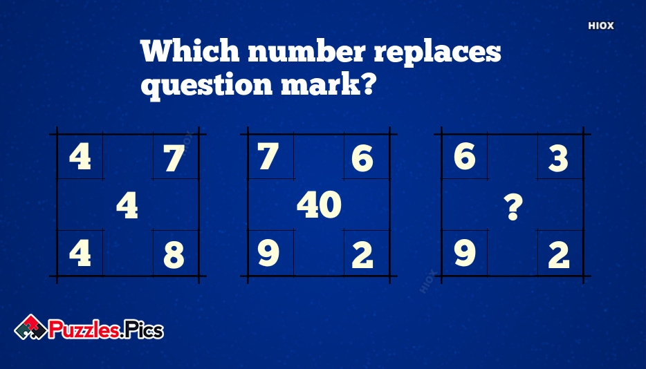 Which Number Replaces The Question Mark Square?