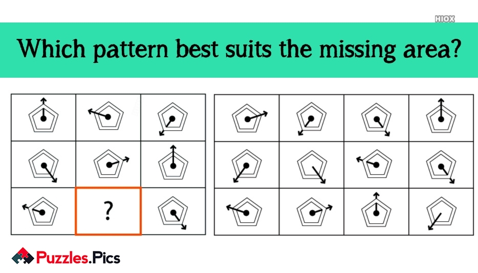 Which Pattern Best Suits The Missing Area?